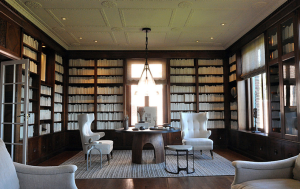 Library designed by Geoffrey De Sousa_Courtesy Domainehome.com