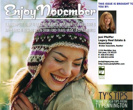 Enjoy Magazine Nov. 2014 Courtesy Jeni Pfeiffer