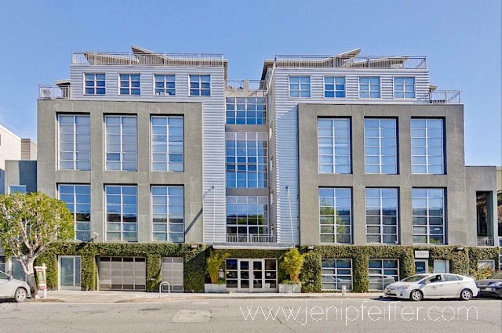 Live/Work Loft - Distinguished David Baker Building located in SF's hip & sunny Dogpatch neighborhood. Courtesy Jeni Pfeiffer