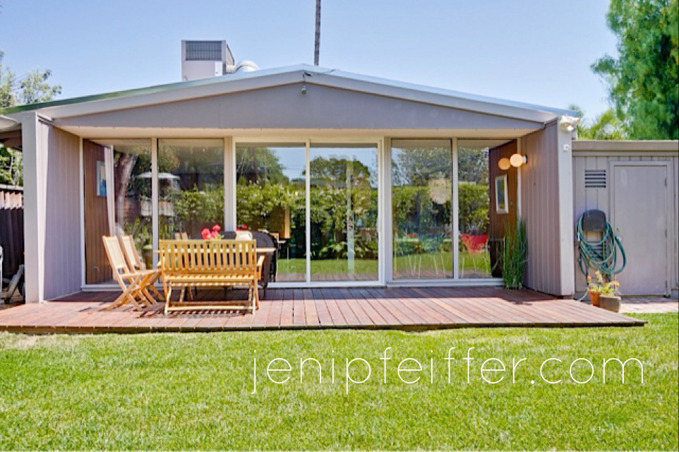 Ipe Deck Great for Entertaining Eichler Style